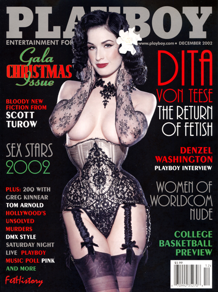 Dita Von Teese, Playboy magazine, Dec. 2002