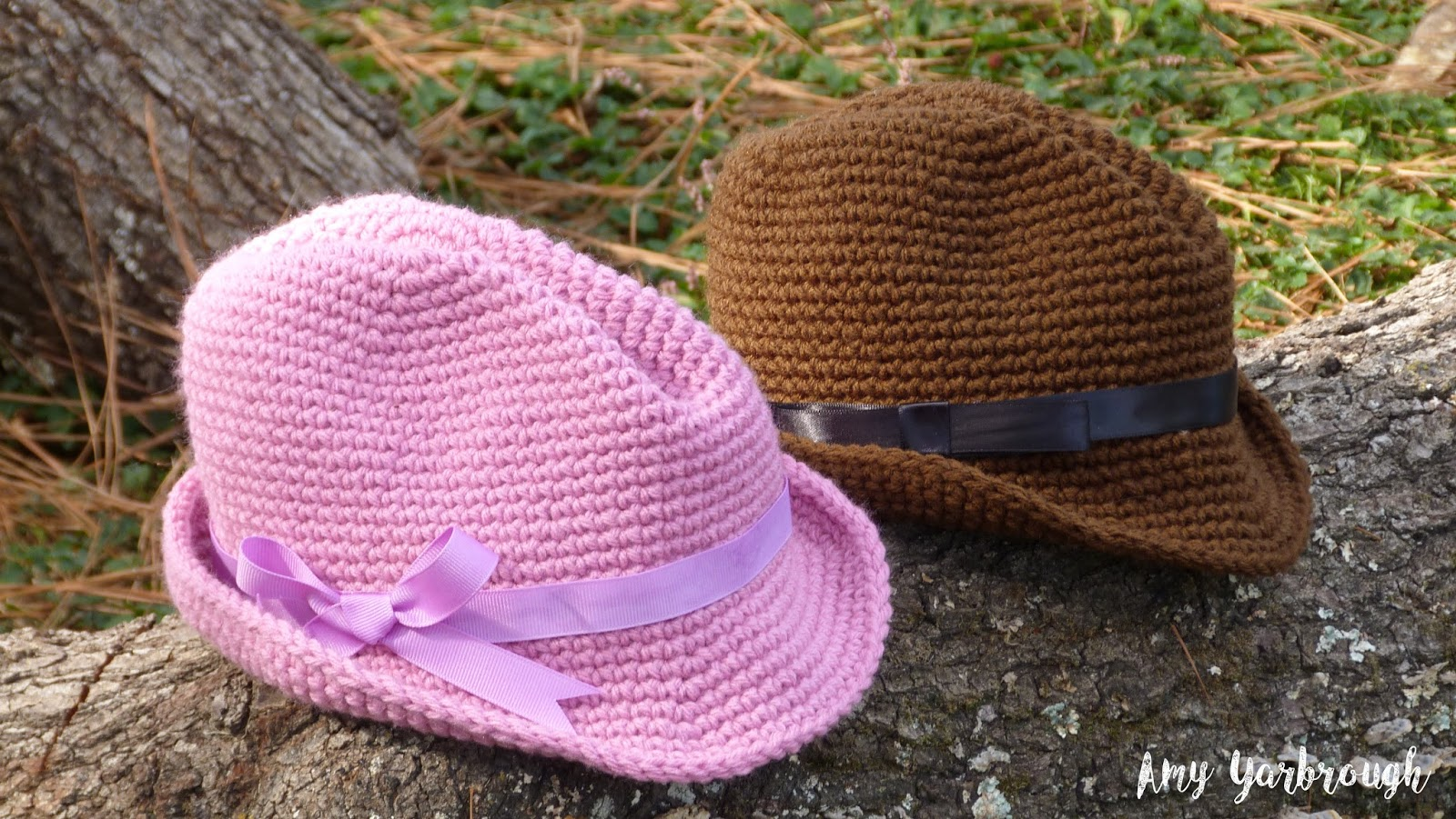 Snappy Fedora (3 Sizes)   Free Crochet Pattern - Ginger Peachy