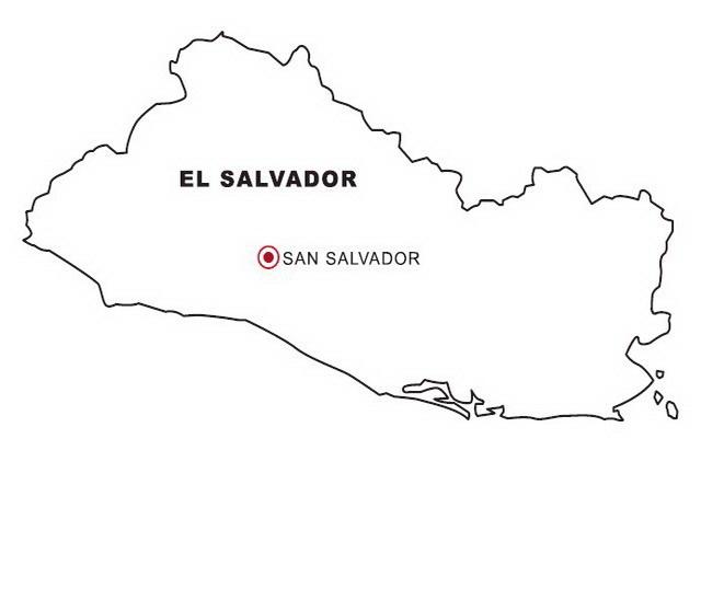 Mapa del salvador para dibujar