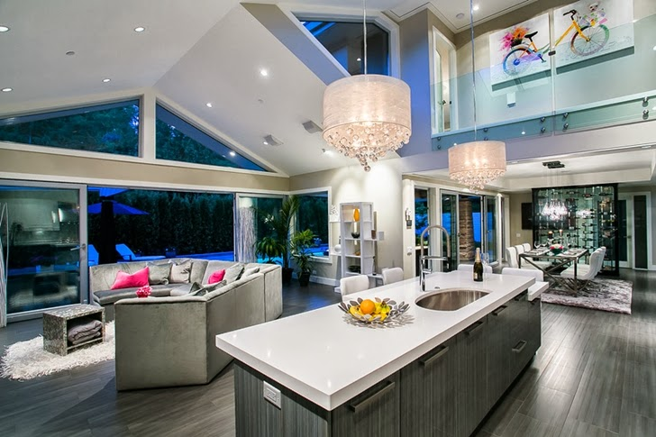 Entertainment area in Contemporary home by Trevor Euley in Canada