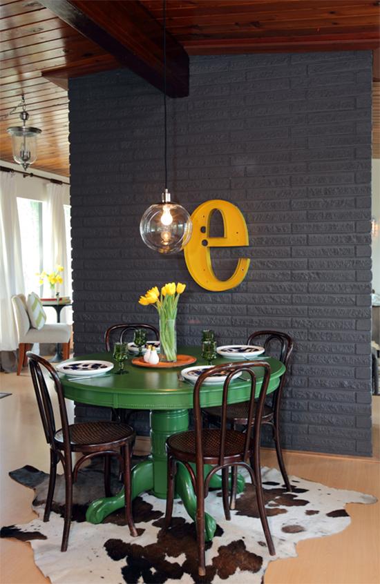cozinha decorada, cozinha, parede tijolos, a casa eh sua, acasaehsua, decor, home decor, interior, decoração