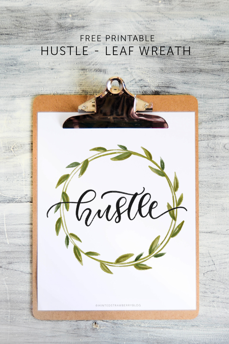 free printable hustle poster