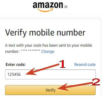 mobile number se verify kare