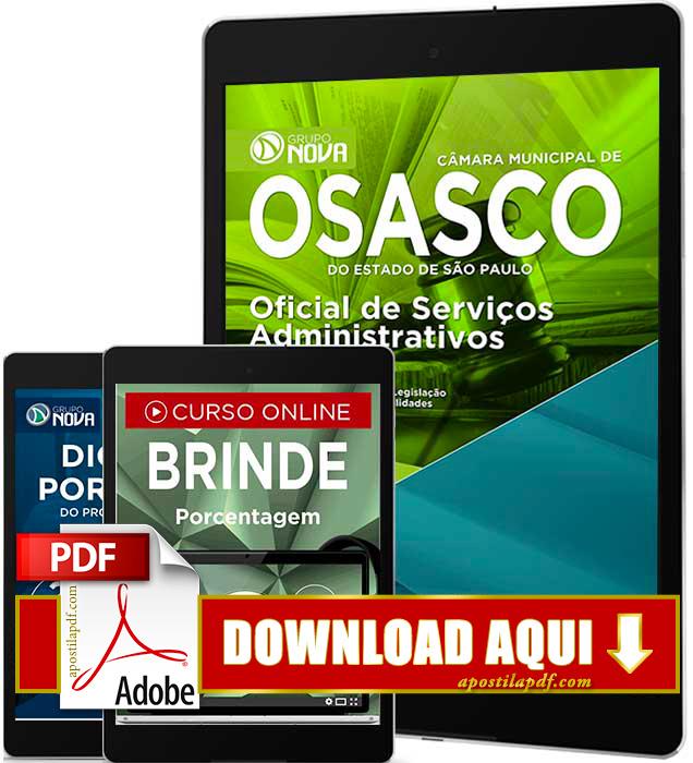 Apostila Câmara de Osasco 2016 PDF Download Oficial de Serviços Administrativos