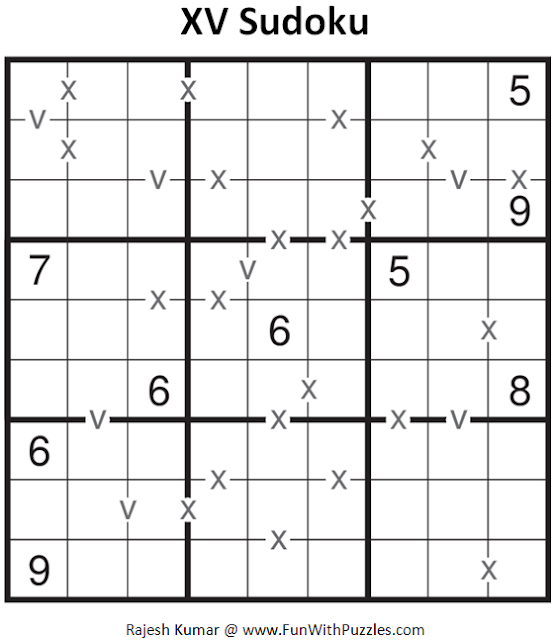 XV Sudoku (Fun With Sudoku #93)