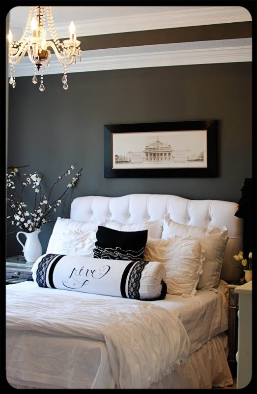 The olde farmhouse on windmill hill master bedroom my for Grey and white bedroom designs
