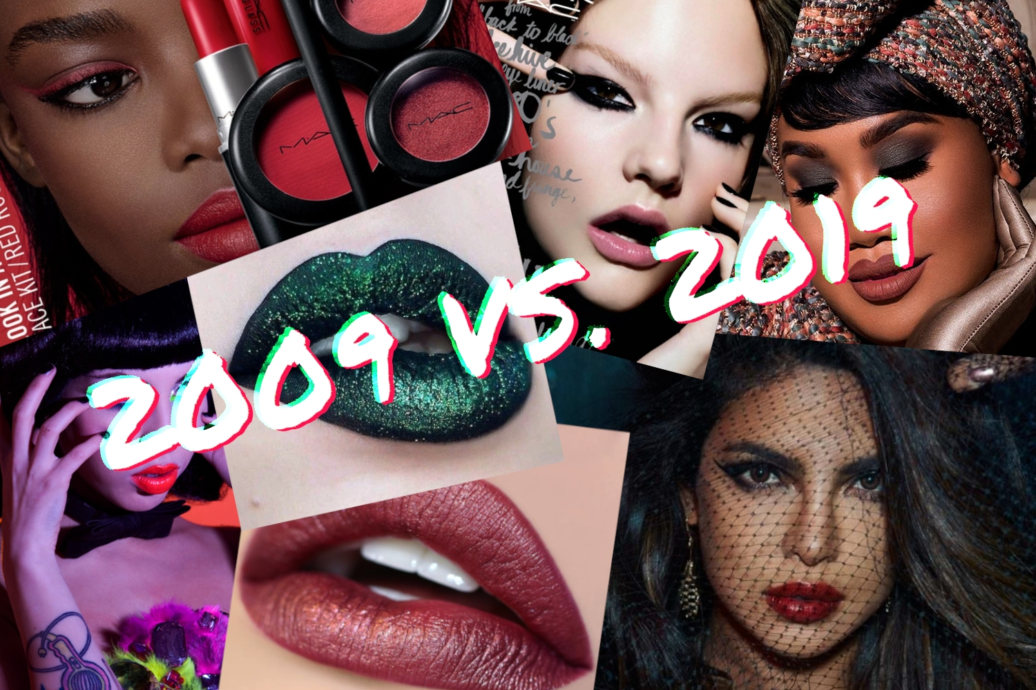 ten years challenge makeup industry then and now 2009 versus 2019 year