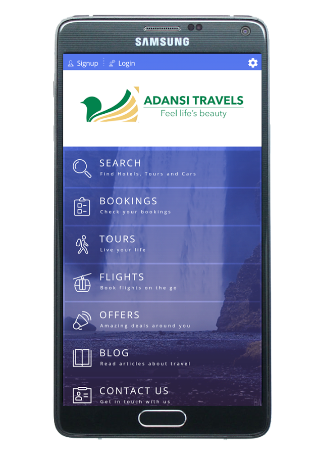 Get the latest Travel and Tour Service App in town ''Adansi Travels App''