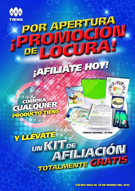 Promoción de Apertura Tiens Chile