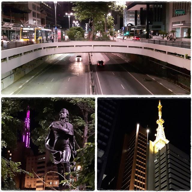 Vem pra Sampa, meu! Encontro que reuniu cerca de 60 blogueiros de viagem em São Paulo, no mês de outubro de 2016. Palestras, passeios, diversão. Lindas paisagens urbanas e muita descontração. Avenida Paulista durante a noite.