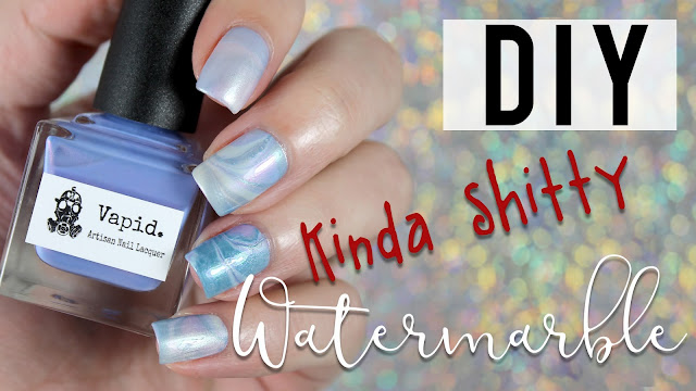 Vapid Lacquer Summer Shimmers |  Kinda Sh*tty Watermarble