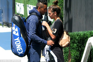 Nick Kyrgios And Ajla Tomljanovic Sharing Romantic Moment