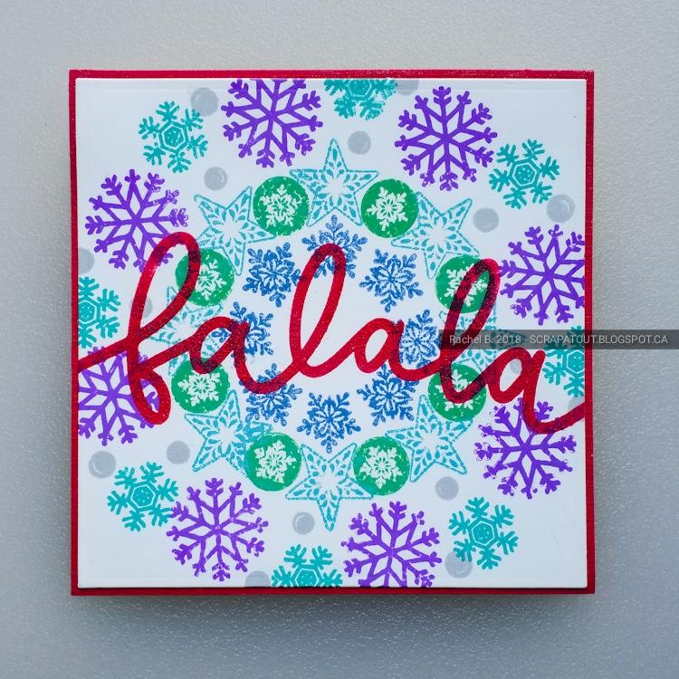 Handmade card, Christmas, Wreath builder, scrapatout.blogspot.ca