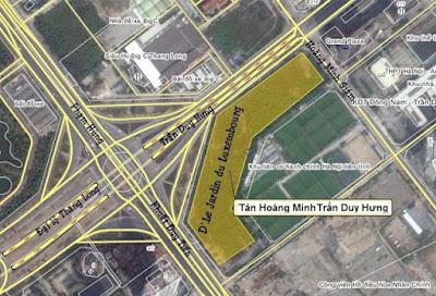 Vị trí dự án khu đất vàng của Vingroup và Tân Hoàng Minh sắp bung hàng