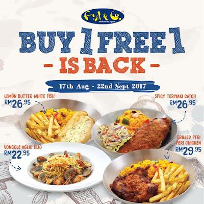 Fish & Co. Malaysia Buy 1 Free 1 Promo
