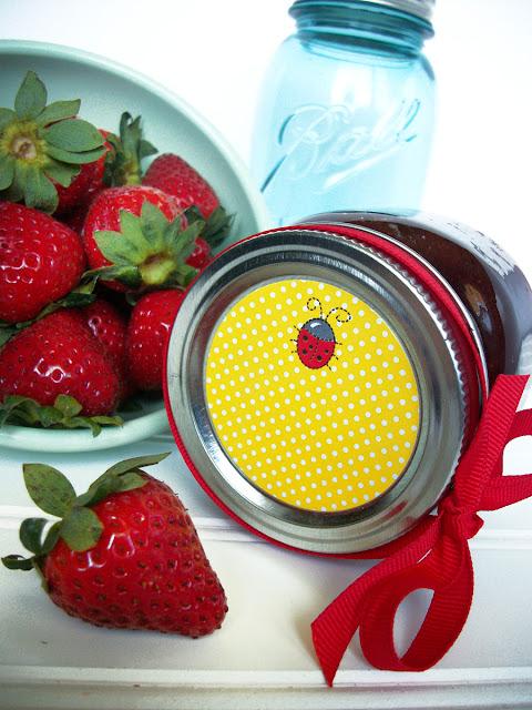 ladybug canning label