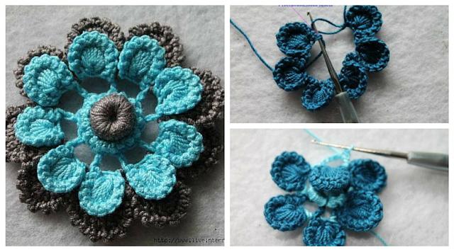 Tutorial #74: Paso a Paso Flor Rusa a Crochet