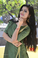 Akshitha cute beauty in Green Salwar at Satya Gang Movie Audio Success meet ~  Exclusive Galleries 035.jpg