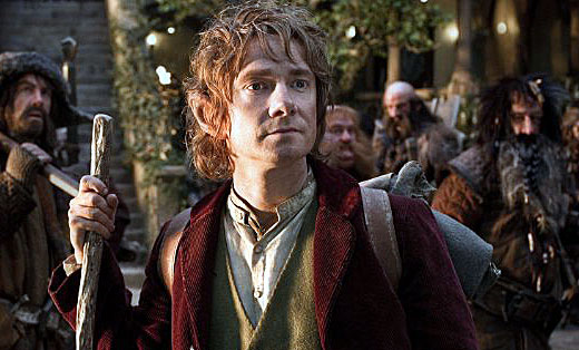 Martin Freeman as Bibo The Hobbit 2012 movieloversreviews.filminspector.com
