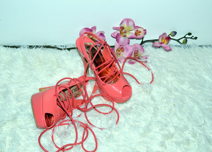 DIY, diy lace up sandals heels, diy project, diy shoes sandals, leather cord lace, sponsored