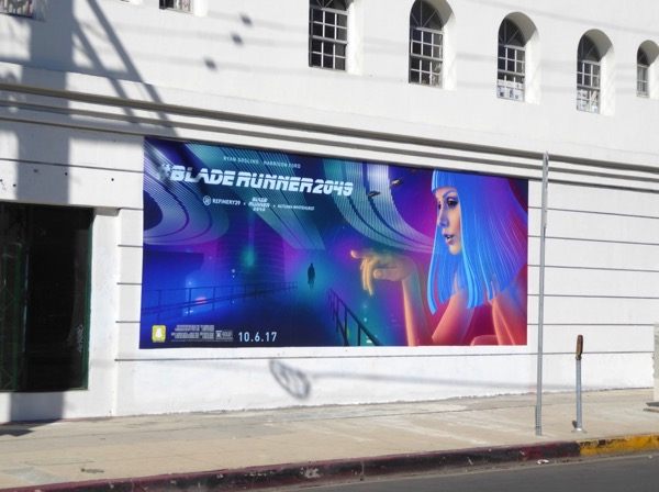 Blade Runner 2049 movie wall mural ad