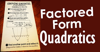 factored form quadratics