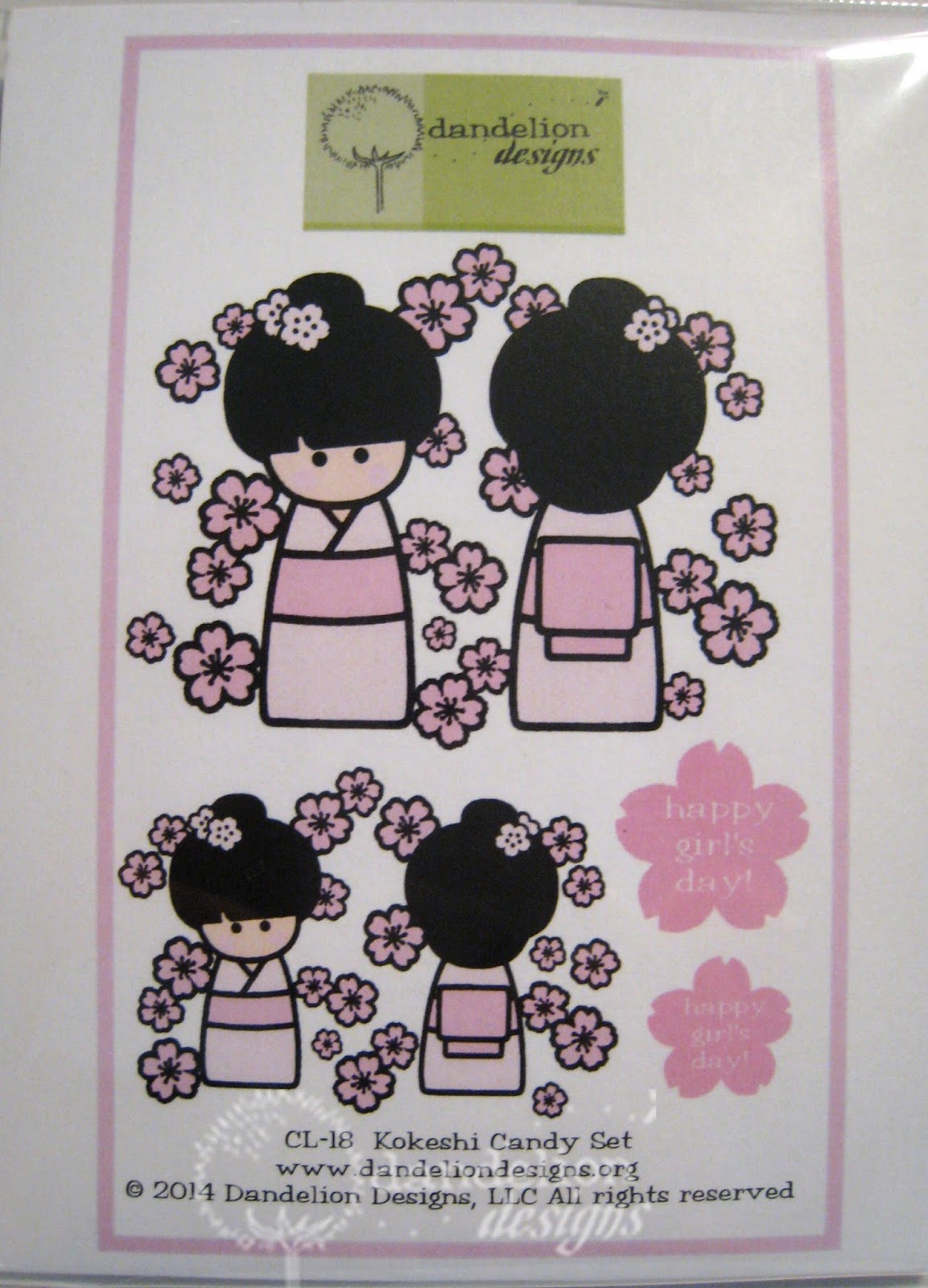 Dandelion Designs New Stamps Kokeshi Candy