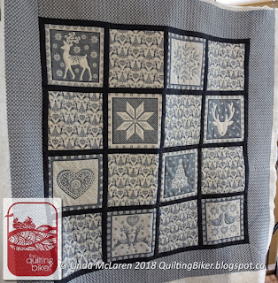 Scandi Xmas quilt - closer view
