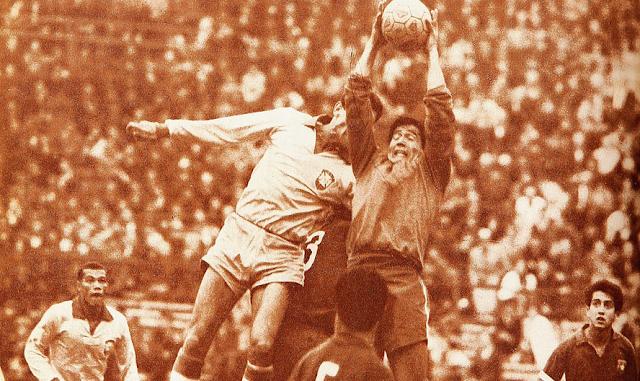 Chile y Brasil en Copa O'Higgins 1966, partido de ida