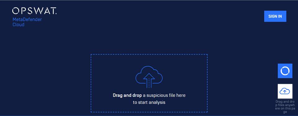 Metadefender Cloud 免費雲端掃毒服務