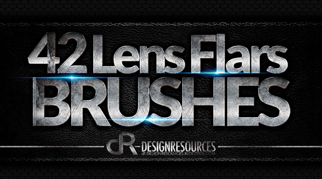 42 Lens Flare Brushes — Photoshop Add-ons