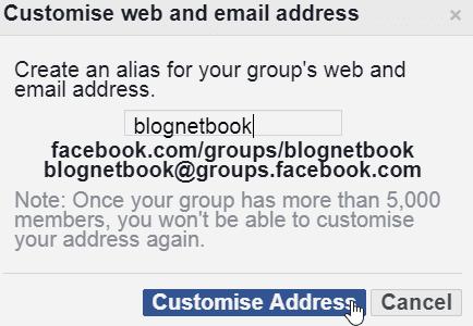 facebook username change