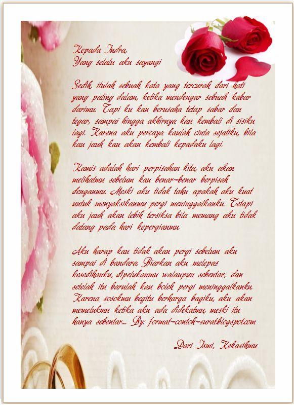 Surat Ucapan Selamat Tinggal Pada Kekasih