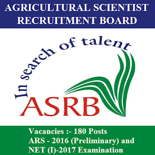 Agricultural Scientists Recruitment Board, ASRB, NET, Graduation, New Delhi, Delhi, freejobalert, Sarkari Naukri, Latest Jobs, asrb logo