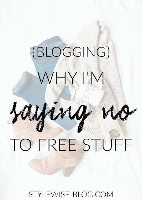 professional blogger i don't want free stuff anymore blogging business stylewise-blog.com