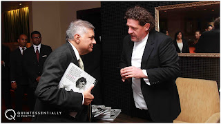 Prime Minister, Ranil Wickremesinghe with Marco Pierre White