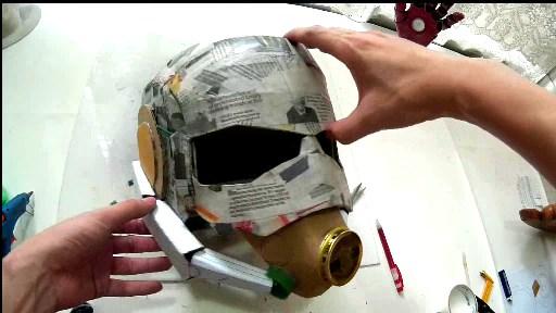 How to Make Antman Costume Helmet & Dali-Lomo: Antman Costume Helmet DIY - Cardboard (free template)