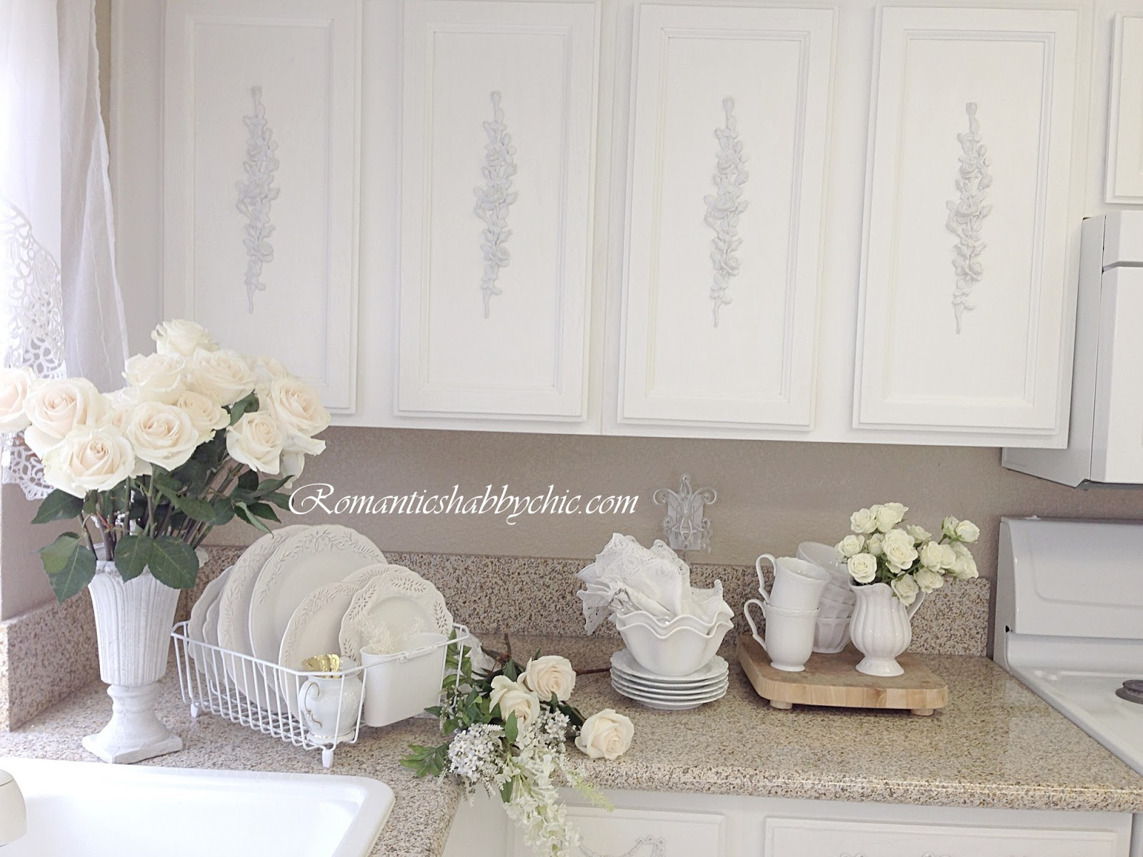 shabby chic kitchen decor cabinets images romantic home romanticshabbychic com