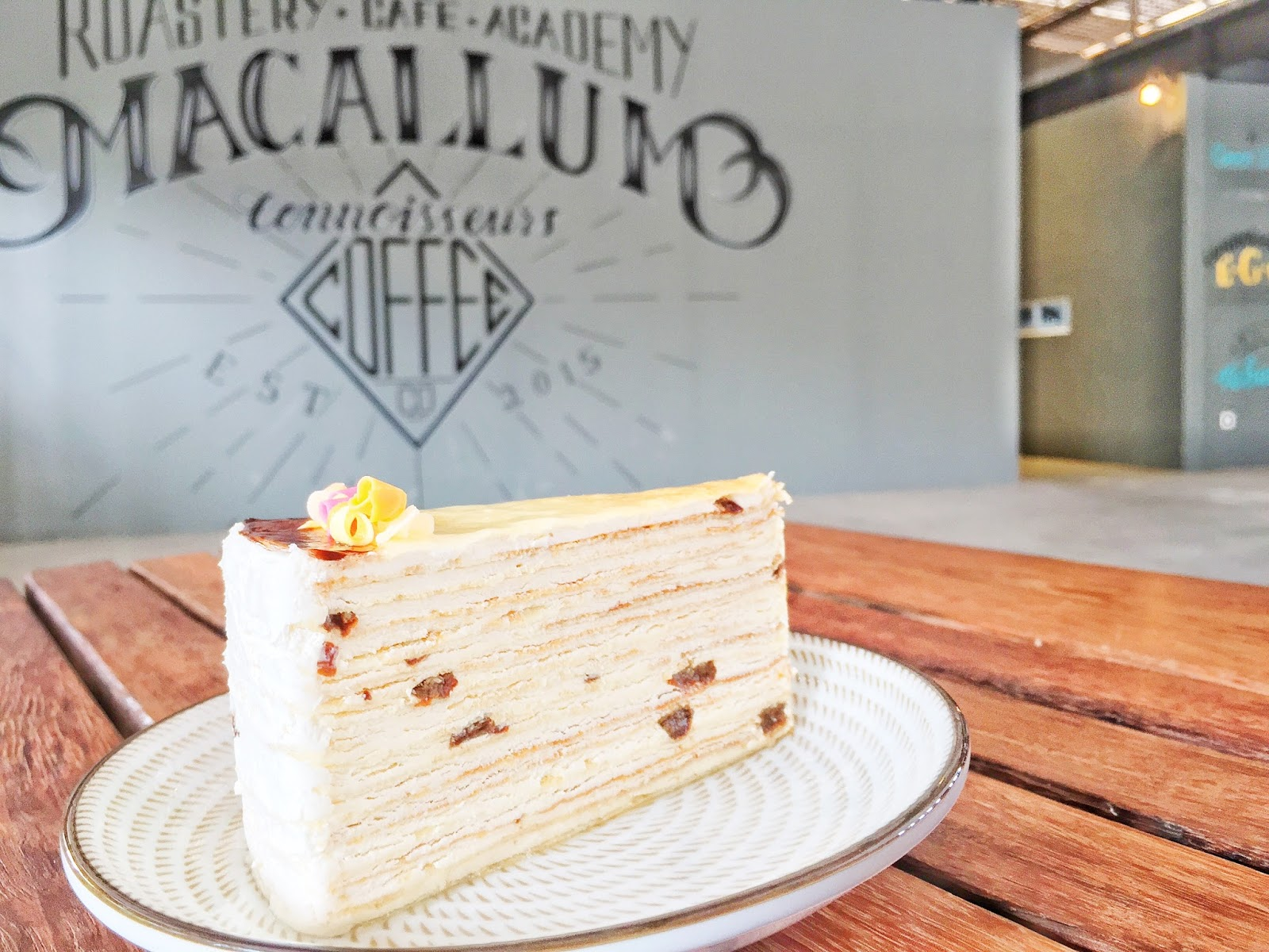 Penang Cafes - Macallum Get Drunk Raisin Crepe