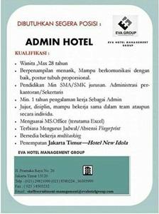 Informasi Lowongan Kerja di Hotel New Idola (Eva Hotel Management Group) - Admin Hotel