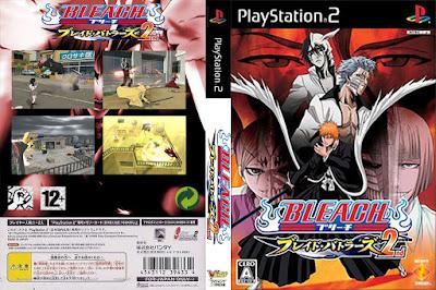 Jogo Bleach Blade Battlers 2 PS2 DVD Capa