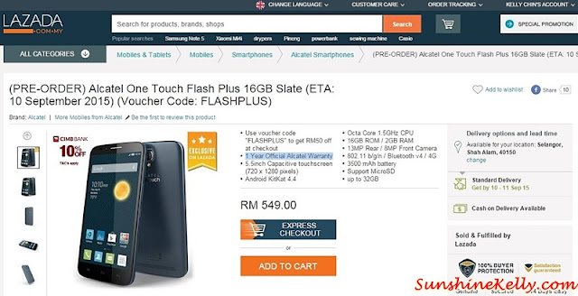 Alcatel Onetouch Flash Plus, Selfie Like A Pro, Alcatel, Flash Plus, Alcatel Smartphone, Selfie smartphone, selfie phone, pre order alcatel onetouch flash plus, lazada malaysia, lazada