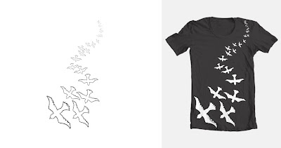 design t-shirt, flock of birds