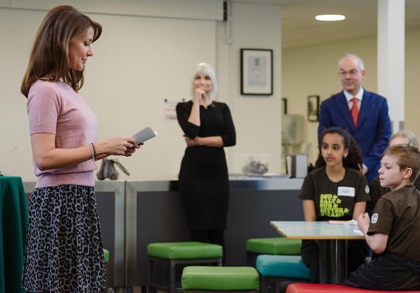 Princess Marie of Denmark participated in the City of Copenhagen's launch of teaching materials about food waste at Amager Faelled School