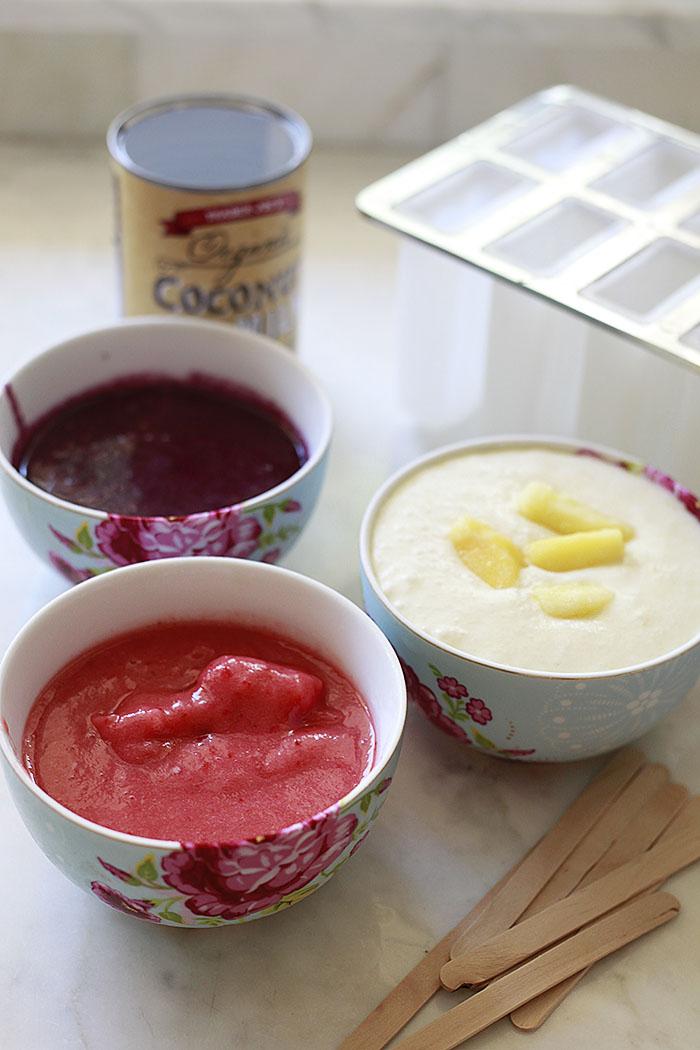 berry pina colada popsicles