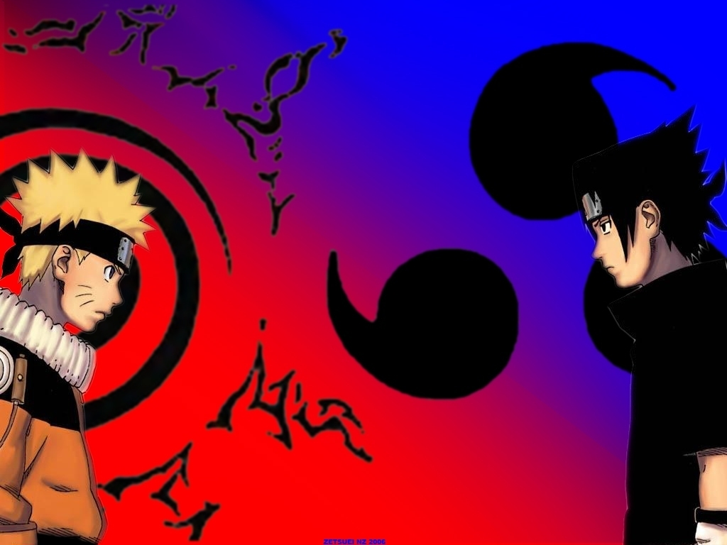 Naruto Kid VS Sasuke Wallpaper
