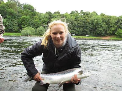 Salmon Fishing Scotland Autumn Salmon Fishing on the Tay, Perthshire, Scotland September 2013.