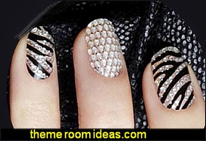 Design Nail Art Decoration Sticker Diamond Nail Stickers lace nail stickers