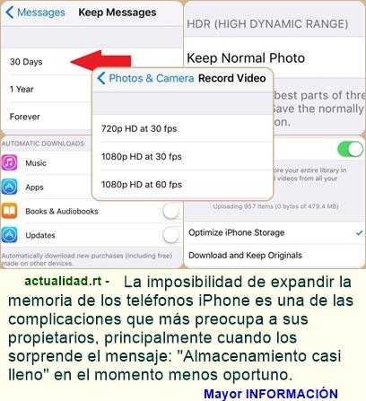 Cinco sencillos trucos para liberar la memoria de su iPhone
