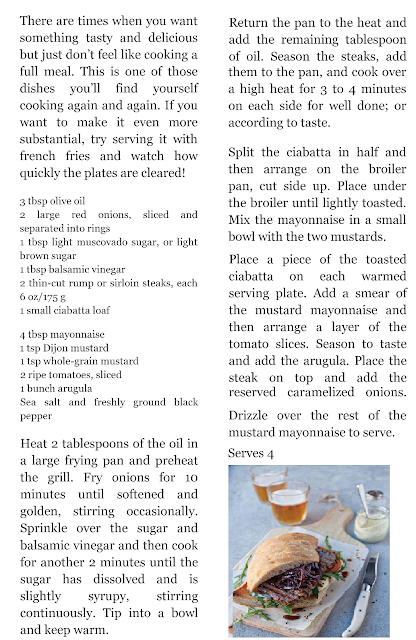 STEAK AND CARMELIZED OPEN SANDWICH recipe